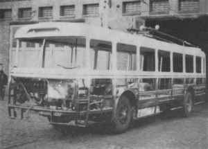 Trolleybus of the Czech type ŠKODA 9 Tr during the general overhaul
