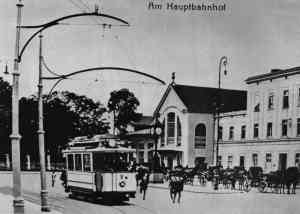 Eberswalde tram at the main station