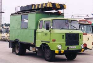 Overhead wiring maintenance vehicle of the GDR type IFA W 50